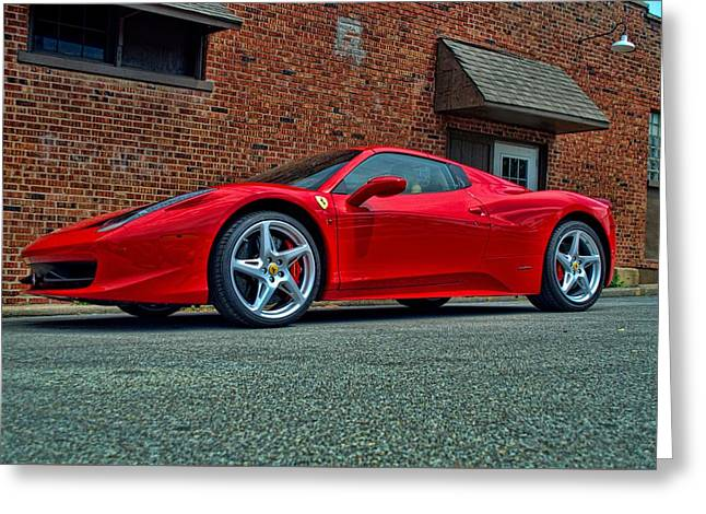 Greeting Card featuring the photograph 2012 Ferrari 458 Spider by Tim McCullough