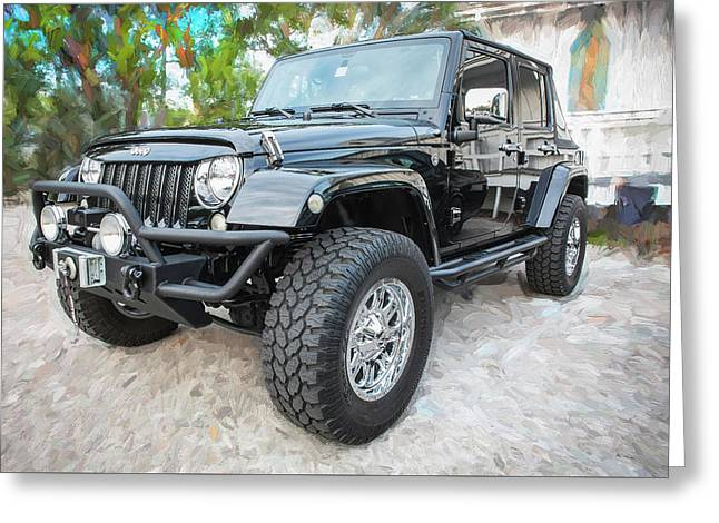 2012 Jeep Wrangler Sport 001 Greeting Card by Rich Franco