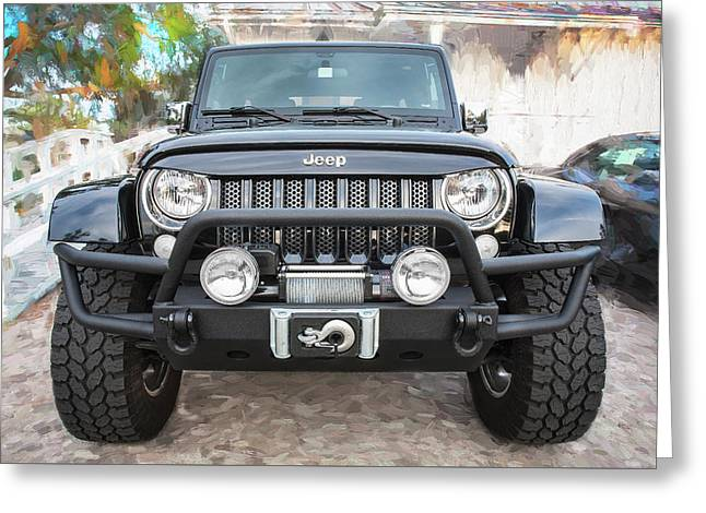 2012 Jeep Wrangler Unlimited Sport 003 Greeting Card by Rich Franco