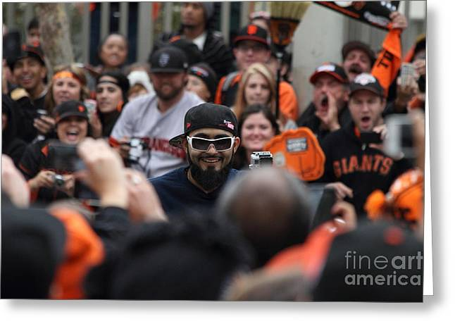 2012 San Francisco Giants World Series Champions Parade - Sergio Romo - Dpp0007 Greeting Card