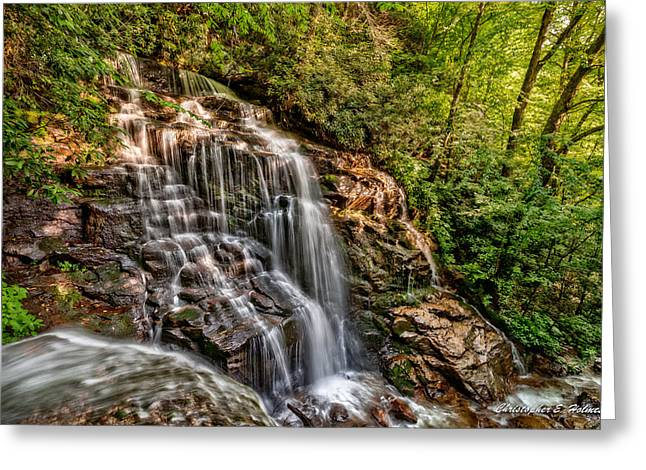 Secluded Falls Greeting Card by Christopher Holmes