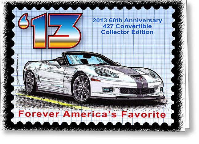 2013 60th Anniversary 427 Convertible Corvette Greeting Card