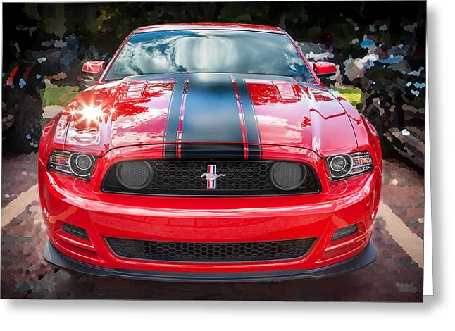 2013 Ford Boss 302 Mustang  Greeting Card