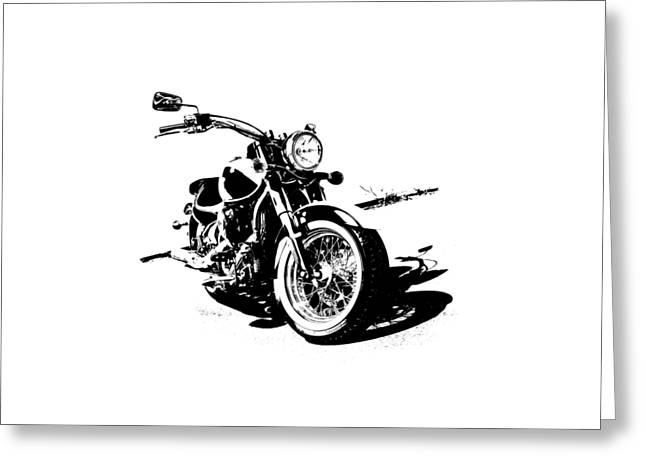 2013 Kawasaki Vulcan Classic Graphic Greeting Card by Melissa Smith