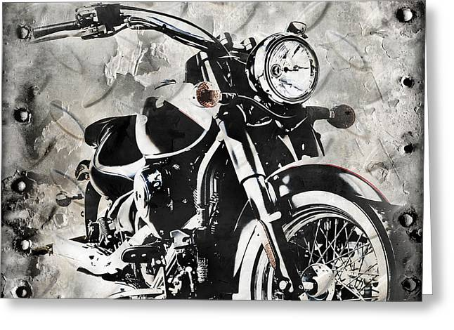 2013 Kawasaki Vulcan Greeting Card by Melissa Smith