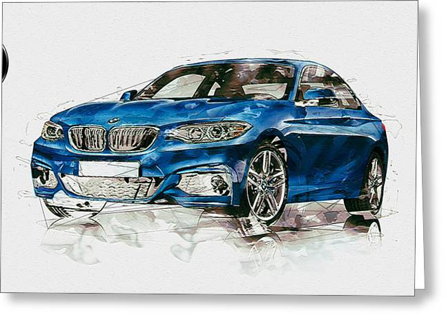 2014 B M W 2 Series Coupe With 3d Badge Greeting Card