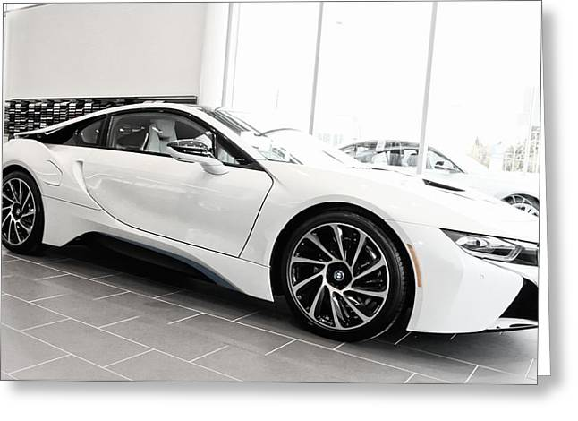 Greeting Card featuring the photograph 2014 Bmw E Drive I8 by Aaron Berg