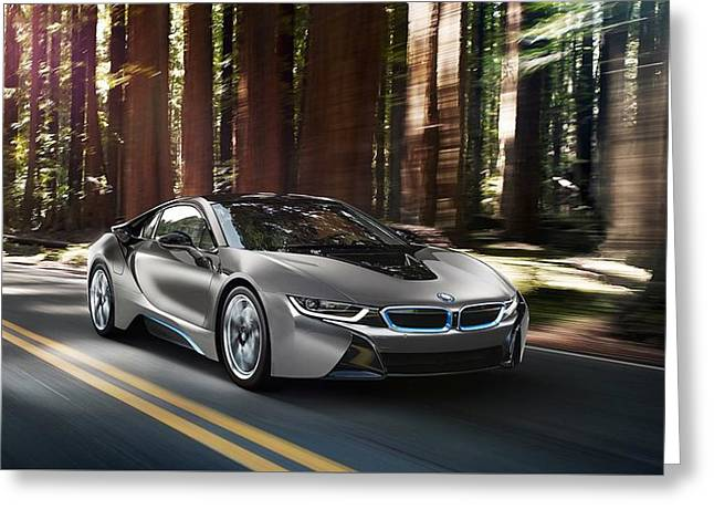 2014 Bmw I8 Concours Delegance Edition  1 Greeting Card
