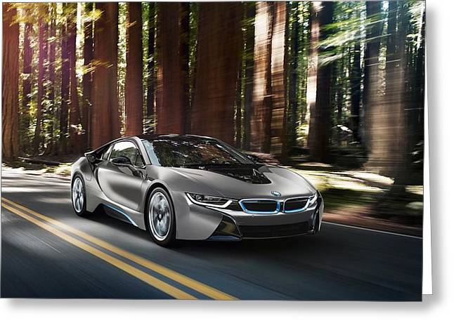 2014 Bmw I8 Concours Delegance Edition  Greeting Card
