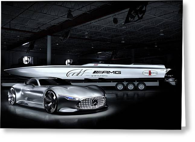 2014 Cigarette Racing Vision Gt Mercedes Benz Wide Greeting Card by F S