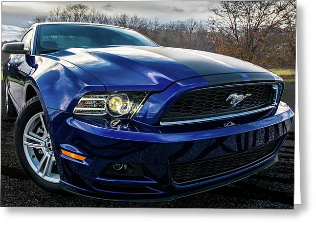 Greeting Card featuring the photograph 2014 Ford Mustang by Randy Scherkenbach