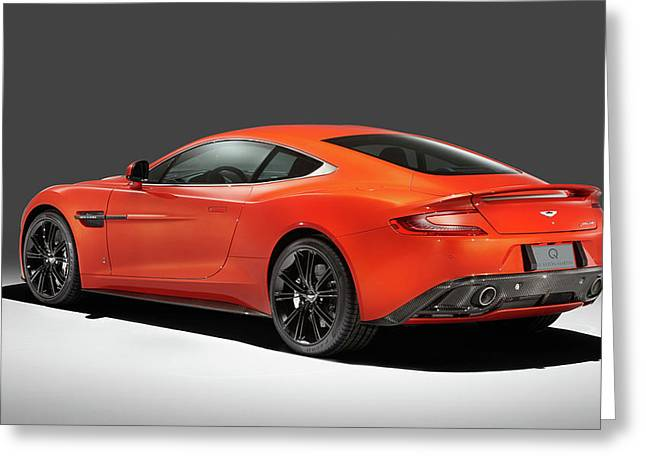 2014 Q By Aston Martin Vanquish Coupe 2 Wide Greeting Card