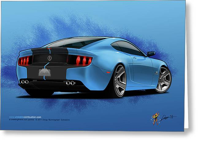 2014 Stang Rear Greeting Card