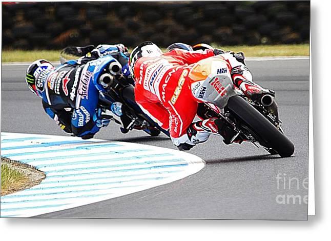 2015 Aussie Moto Grand Prix Greeting Card by Blair Stuart