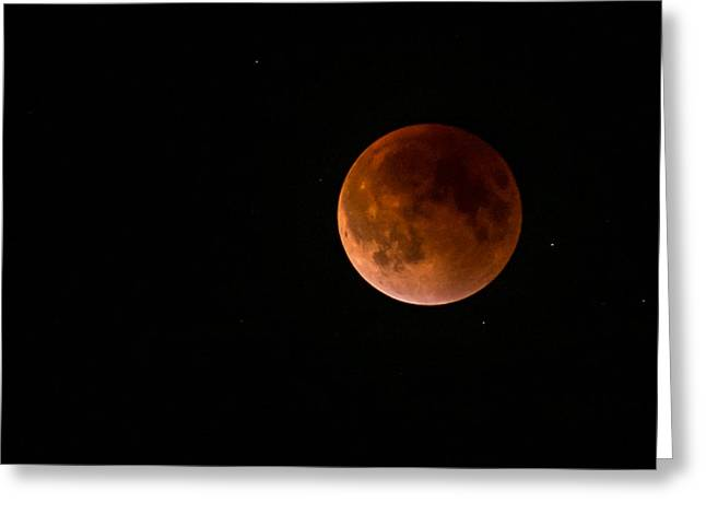2015 Blood Harvest Supermoon Eclipse Greeting Card