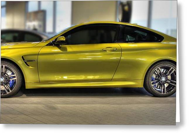 Vehicles Greeting Card featuring the photograph 2015 Bmw M4 by Aaron Berg