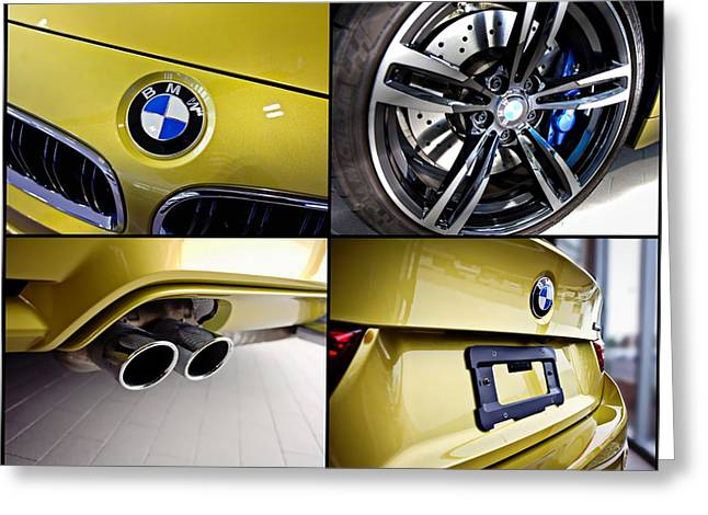 Greeting Card featuring the photograph 2015 Bmw M4 Collage  by Aaron Berg