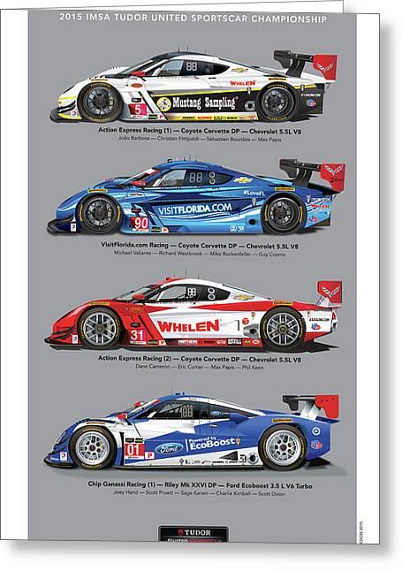 2015 Daytona Prototype Poster Greeting Card by Alain Jamar