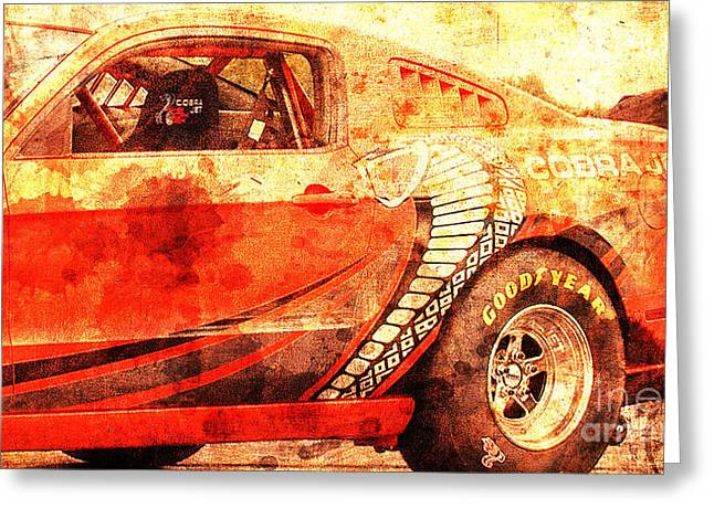 2015 Ford Mustang Cobra Jet, Classic Car, Original Gift For Husband Greeting Card by Pablo Franchi