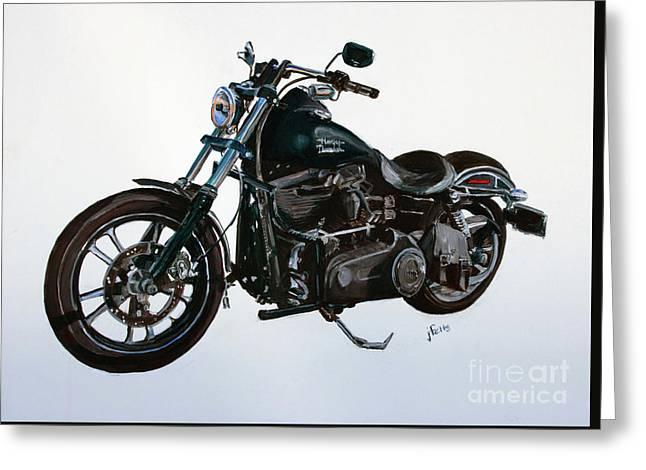 2015 Harley Davidson Dyna Greeting Card by Janet Felts