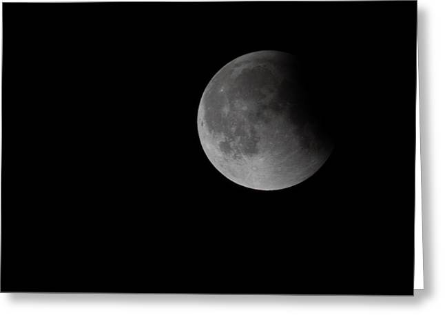 2015 Harvest Moon Eclipse 3 Greeting Card