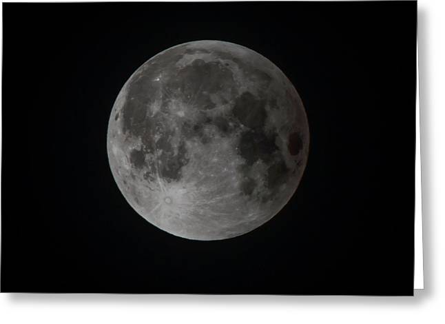 2015 Harvest Supermoon Square Greeting Card