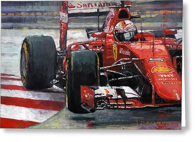 2015 Hungary Gp Ferrari Sf15t Vettel Winner Greeting Card