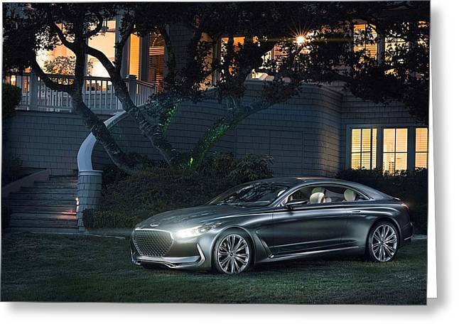 2015 Hyundai Vision G Coupe Concept Wide Greeting Card by F S