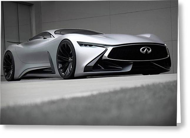 2015 Infiniti Vision Gt Concept Wide Greeting Card by F S