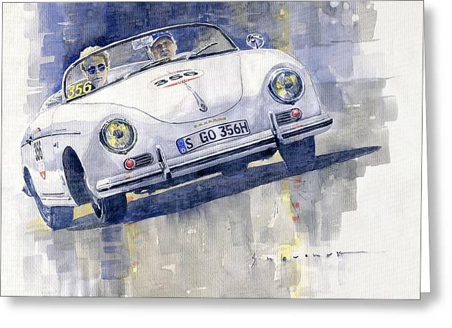 2015 Mille Miglia Porsche 356 1500 Speedster Greeting Card by Yuriy Shevchuk