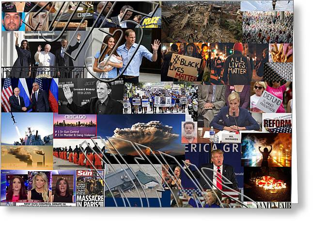 2015 News And Events Greeting Card by Steve Ohlsen