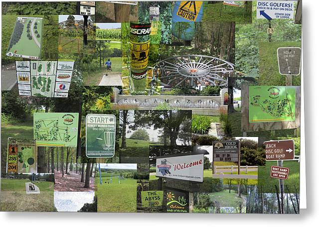 2015 Pdga Amateur Disc Golf World Championships Photo Collage Greeting Card