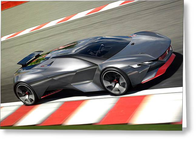 2015 Peugeot Vision Gran Turismo 2 Wide Greeting Card by F S