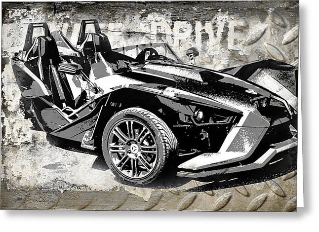 2015 Polaris Slingshot  Greeting Card by Melissa Smith