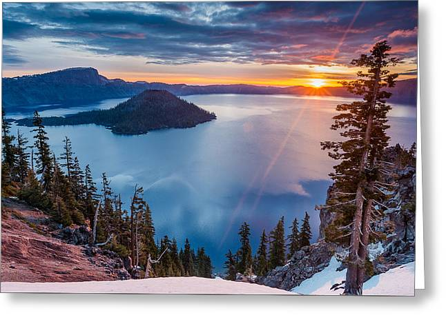 2015 Spring Sunrise From Discovery Point Greeting Card