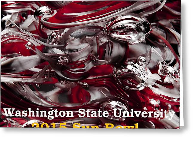 2015 Sun Bowl - Wsu Greeting Card by David Patterson