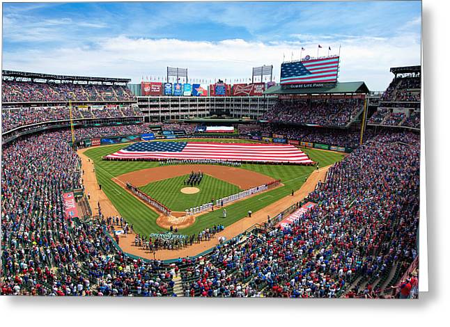 2015 Texas Rangers Home Opener Greeting Card