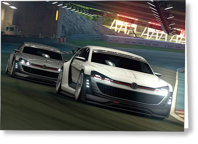 2015 Volkswagen Gti Supersport Vision Gran Turismo Concept 4 Wide Greeting Card by F S