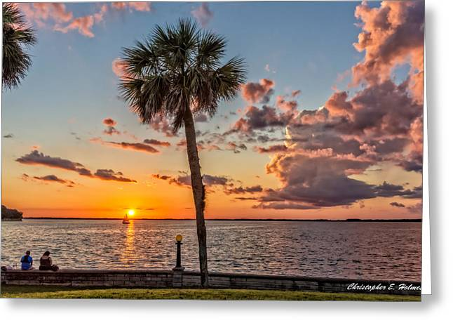 Greeting Card featuring the photograph Sunset Over Lake Eustis by Christopher Holmes