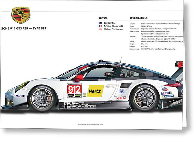 2016 911gt3r Rsr Poster Greeting Card