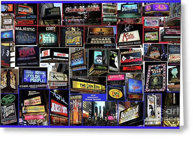2016 Broadway Spring Collage Greeting Card