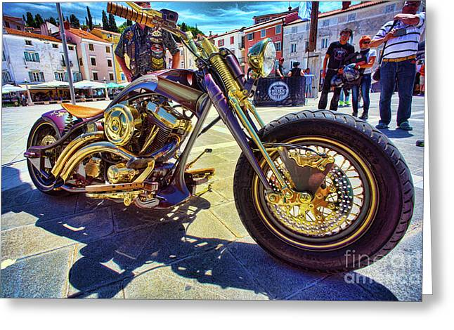 2016 Custom Harley Winner Greeting Card