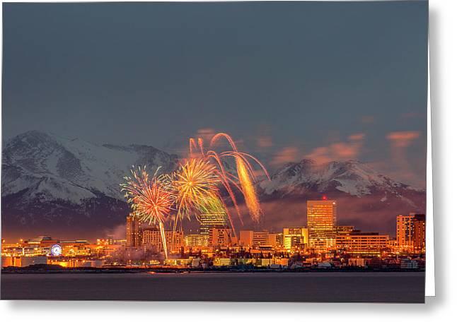 2016 Fur Rondy Fireworks 2 Greeting Card
