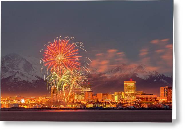 2016 Fur Rondy Fireworks 3 Greeting Card