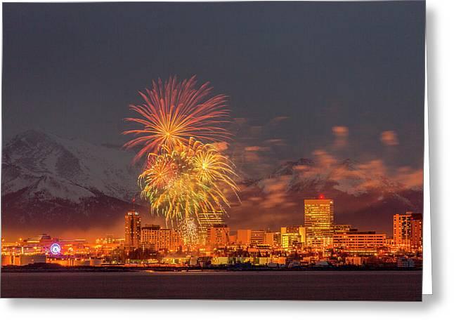 2016 Fur Rondy Fireworks 5 Greeting Card