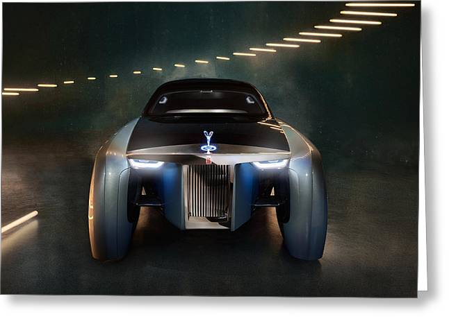2016 Rolls Royce Vision Next 100 8 Wide Greeting Card by F S