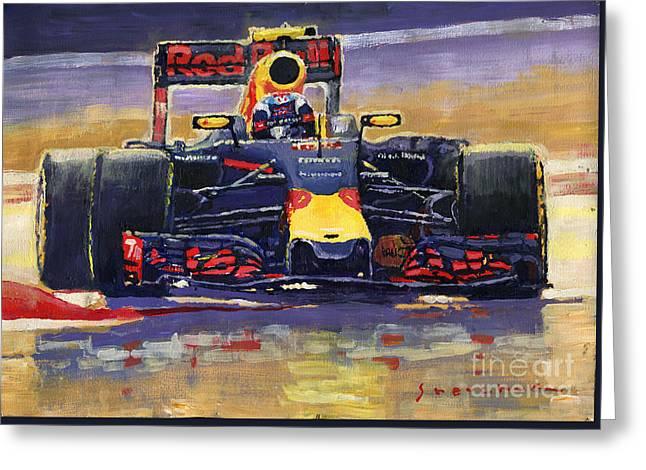 2016 Spain Gp Max Verstappen Red Bull-renault Winner Greeting Card