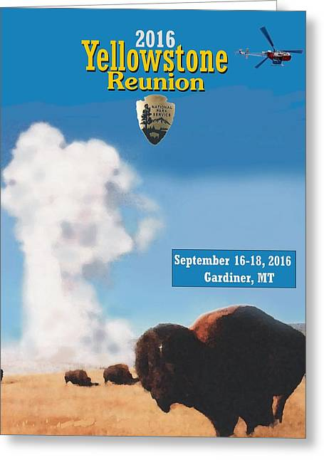 2016 Yellowstone Nps Reunion Greeting Card