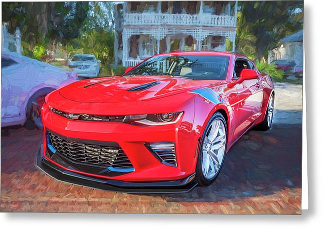 Greeting Card featuring the photograph 2017 Chevrolet Camaro Ss2  by Rich Franco