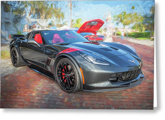 Greeting Card featuring the photograph 2017 Chevrolet Corvette Gran Sport  by Rich Franco